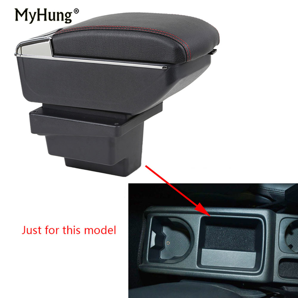 Armrest box For VW Tiguan 2009 2017 Central Console Arm Store content box cup holder ashtray