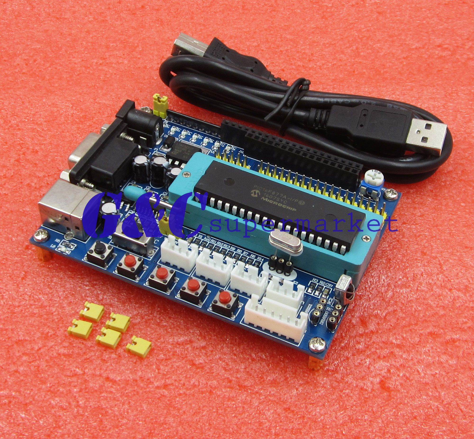 PIC16F877A PIC Development Board Minimum System ICSP JTAG Program Emulator