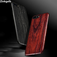 For Apple iPhone 7 8 Plus Case Cover Luxury Cute Slim Hard Natural Wood Shockproof Armor Phone Case for iPhone 7 Back Cover Capa
