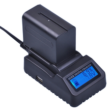 DuraPro Ultra 3X Fast Charger 1pc NP F970 NP F960 NP F960 F970 Battery for Sony