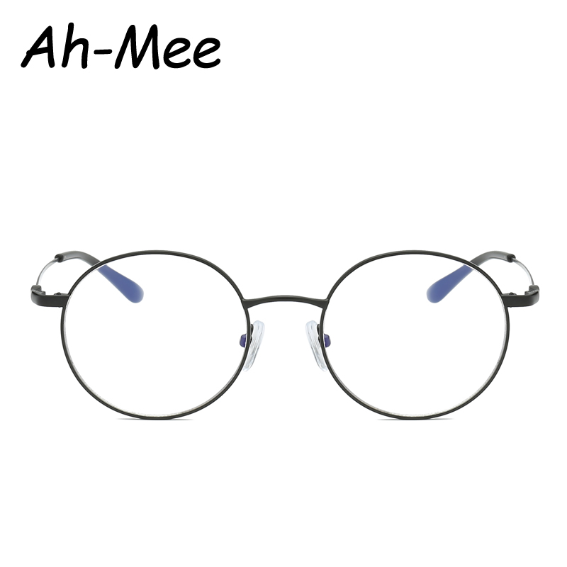 Round Spectacle Glsses Frames Women Men Optical Metal Frame Transparent Eyeglasses Blue Light Blocking Clear Lens Eyewear
