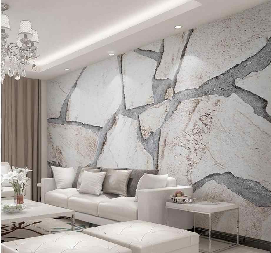 Papel Pintado 3d Para Habitacion Moderno Minimalista Marmol