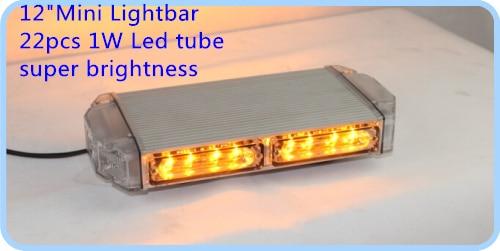 22W 30cm Led lampu peringatan mobil yang lebih tinggi, lampu darurat - Lampu mobil - Foto 2