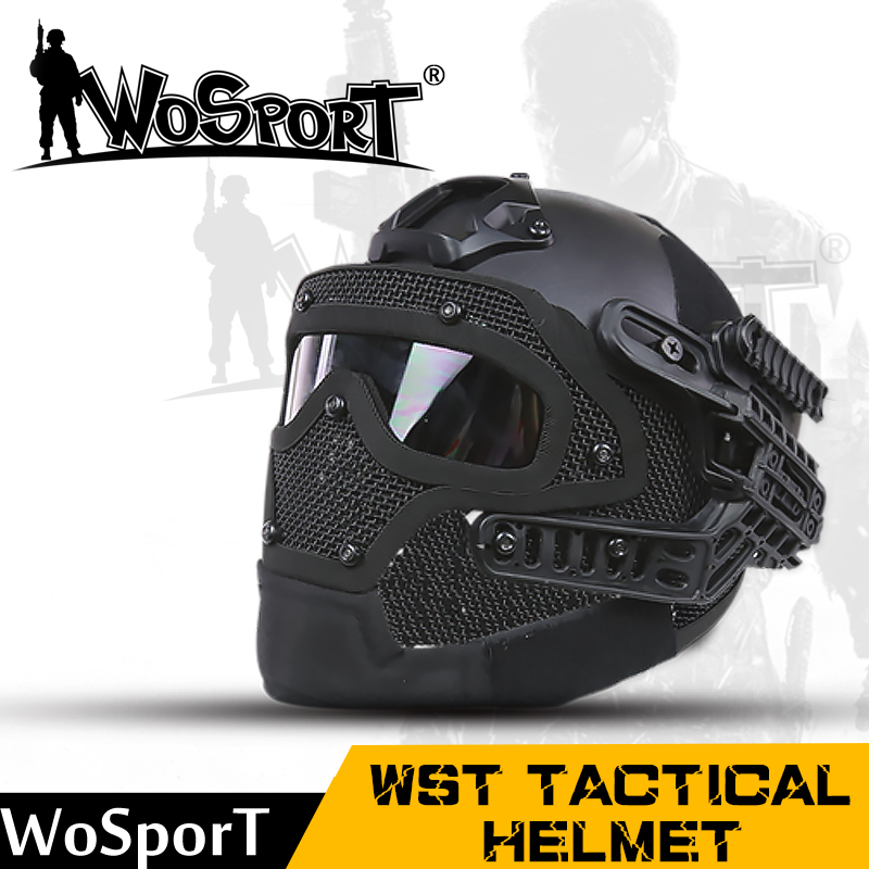 WoSporT New Tactical font b Helmet b font BJ MH PJ ABS Mask with Goggle for