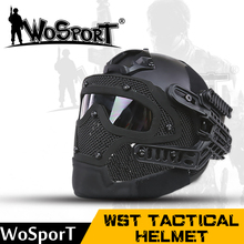 WoSporT New Tactical Helmet BJ MH PJ ABS Mask with Goggle for Military Airsoft Paintball Army WarGame Motorcycle Cycling Hunting