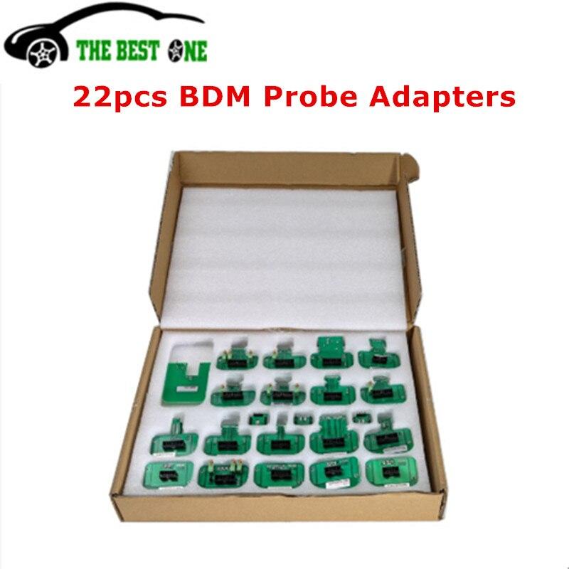 Полный набор 22 шт. BDM Адаптеры для KTAG KESS FGTECH BDM100 BDM Адаптеры для зонда 22 BDM Рамка ECU Инструмент для настройки чипа рампы Бесплатная доставка