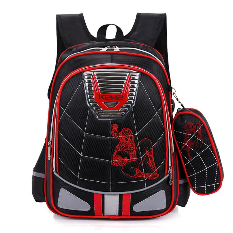 Cartoon Spiderman Orthopedic schoolbags Waterproof Children school backpack for kids shoulder bags mochilas escolares infantis