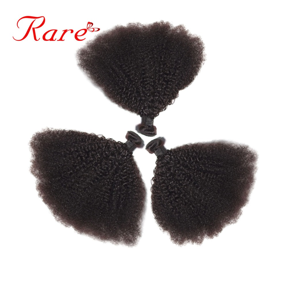 Rare Hair Brazilian Afro Kinky Wave 3 Bundles 100% Human Hair Weave Bundle Natural Color 8-28 Inches Non Remy Hair Extensions