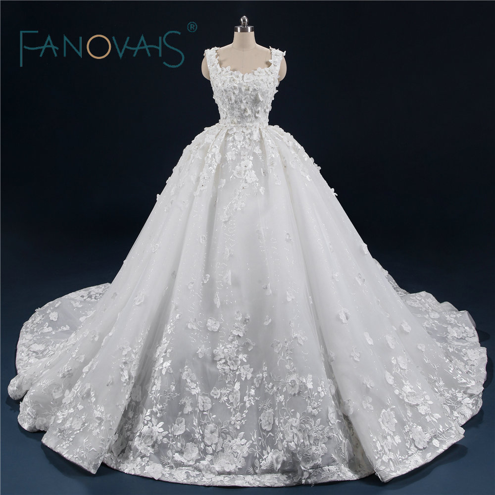 Luxury Ball Gown Wedding Dresses 2018 Vintage Lace Wedding Gowns ...