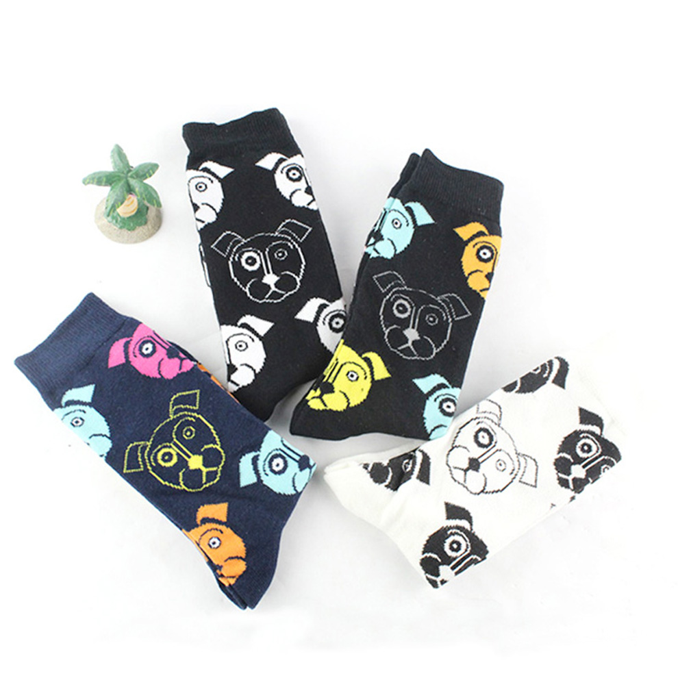 Adroit Men Novelty Dog Funny Socks Casual Cotton Happy Colorful Socks Dress Wedding Pug Socks Clacetines Hombre Divertidos Men Socks Men's Socks