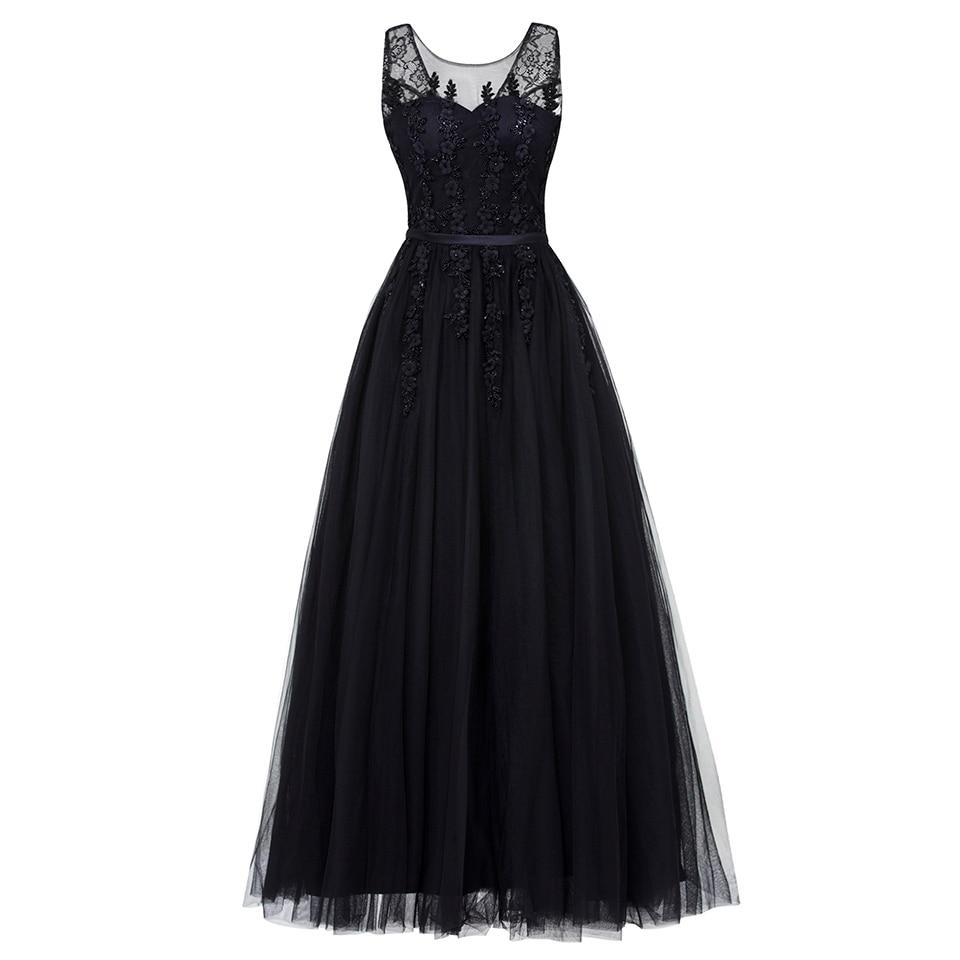 Dressv Black V Neck Plus Size Evening Dress Elegant Ball Gown Sleeveless Beading Wedding Party Formal Dress Evening Dresses