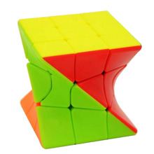 Fangge 3×3 Torsion Magic Cube Coloful Twisted Cube Puzzle Toy for Challange
