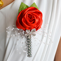 Wedding Prom Corsage Artificial Flower brooch Handmade Wedding boutonniere Groom Bridesmaid Groomsmen Flowers Boutonniere FE21