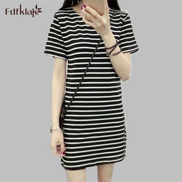 Women   Nightgowns   Short Mini Striped Night Dress Summer   Sleepshirts   Princess   Nightgown   Female Sleepwear Black/White E0076