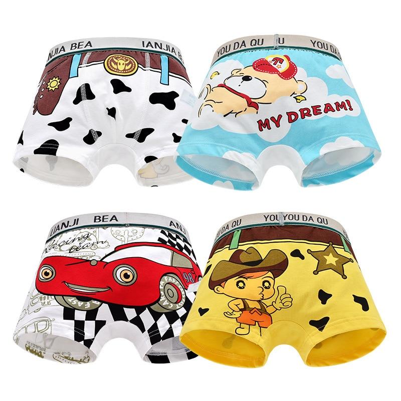 Cotton Children Underwear Boys Boxer Shorts Teenage Underpants Kids Cartoon Panties Soft Baby Boys Boxer Briefs