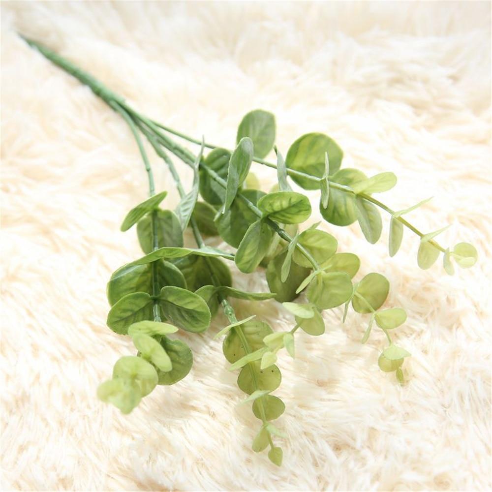 Eucalyptus trädgrenar Konstgjorda plastväxter Blomma arrangera DIY - Semester och fester - Foto 5