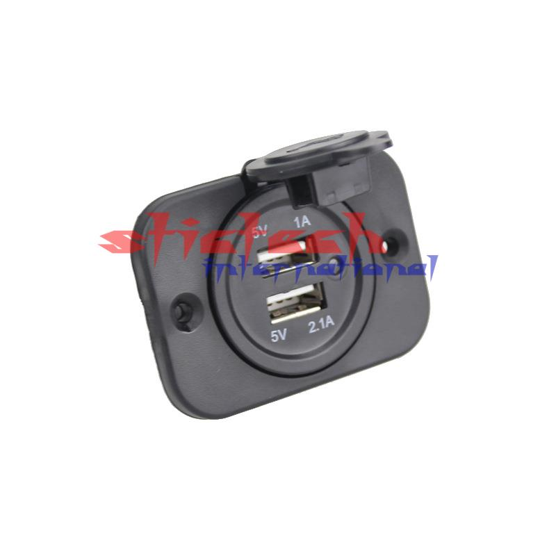 by dhl or ems 100pcs high quality Dual USB 12V Car Motorcycle Truck Cigarette Lighter Adapter