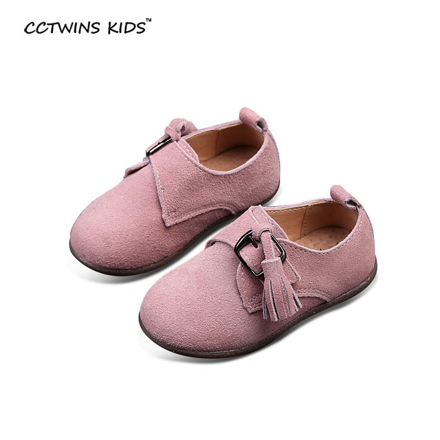 CCTWINS KIDS spring autumn girl brand slipper for kid fashion tassel flats children genuine leather shoes baby fringe suede