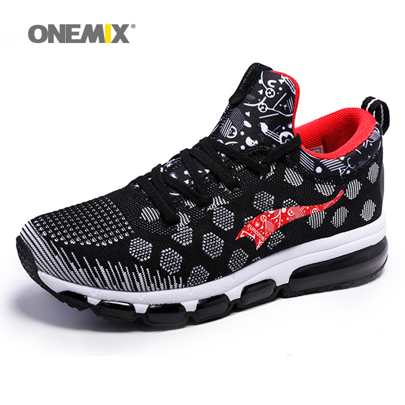 ONEMIX 2017 New Cushion Sneaker Zapatos De Hombre Medium upper Athletic Outdoor Sport Shoes Female Running Shoes size EU 36-46 2017brand sport mesh men running shoes athletic sneakers air breath increased within zapatillas deportivas trainers couple shoes