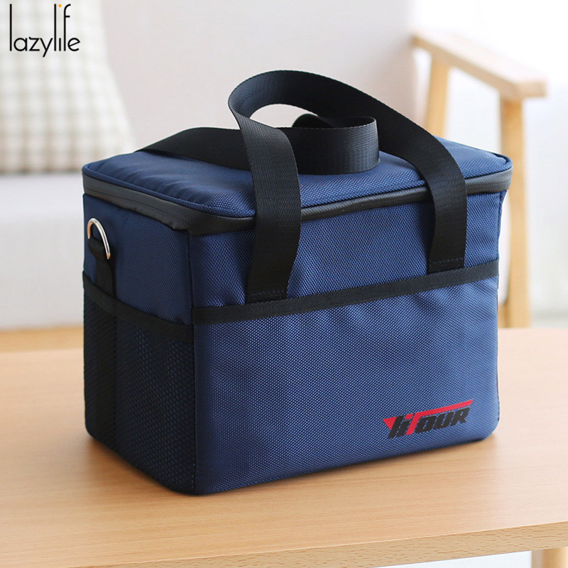 LAZYLIFE 10L Large Thicken Fresh Keeping Waterproof Oxford Cooler Bag Lunch Bag For Insu ...