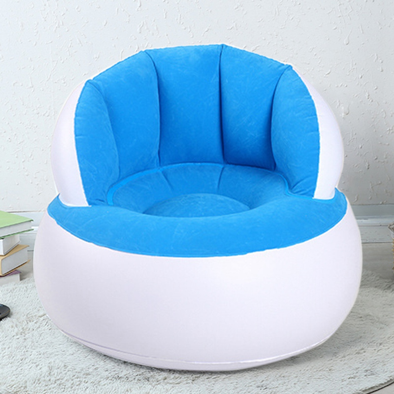 Cadeira inflável Para Adultos Crianças Cadeira de Assento de Ar Lendo Relaxar Saco de Feijão Pufe Inflável Móveis Para Casa Mobília da Sala de estar Sofá Preguiçoso Cadeira