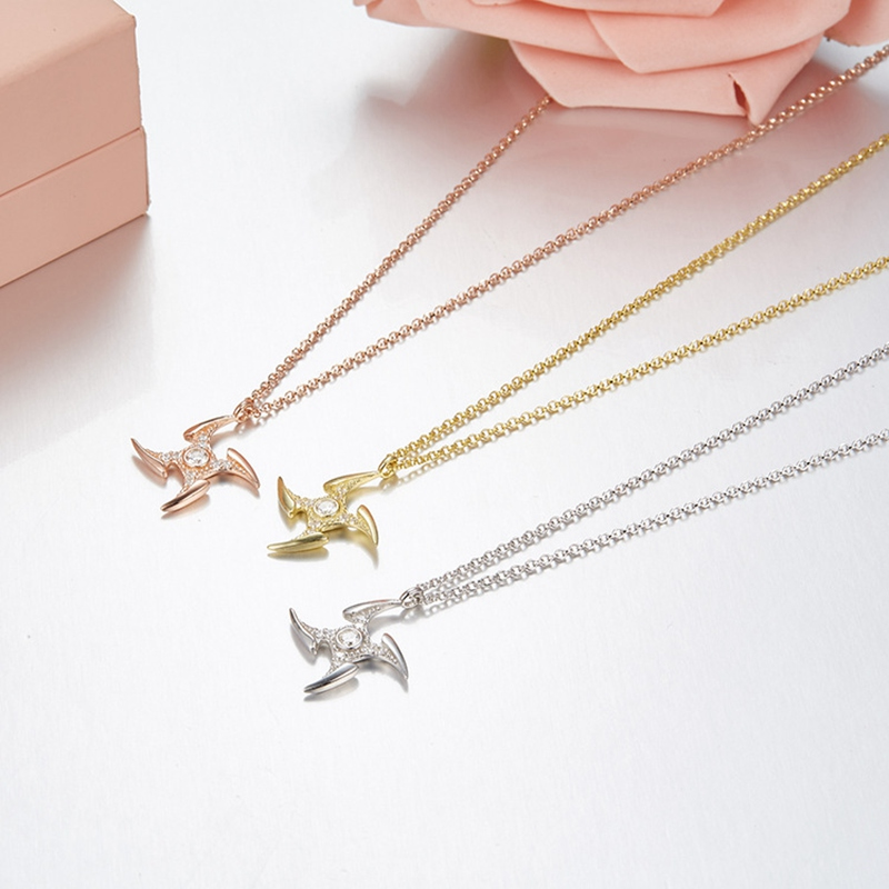 Necklaces & Pendants Jewelry & Accessories Generous Yp1847 925 Sterling Silver Zircon Chains Necklace Meteor Dart Shape Pendant Necklace Women Jewelry Girl Birthday Christmas Gift