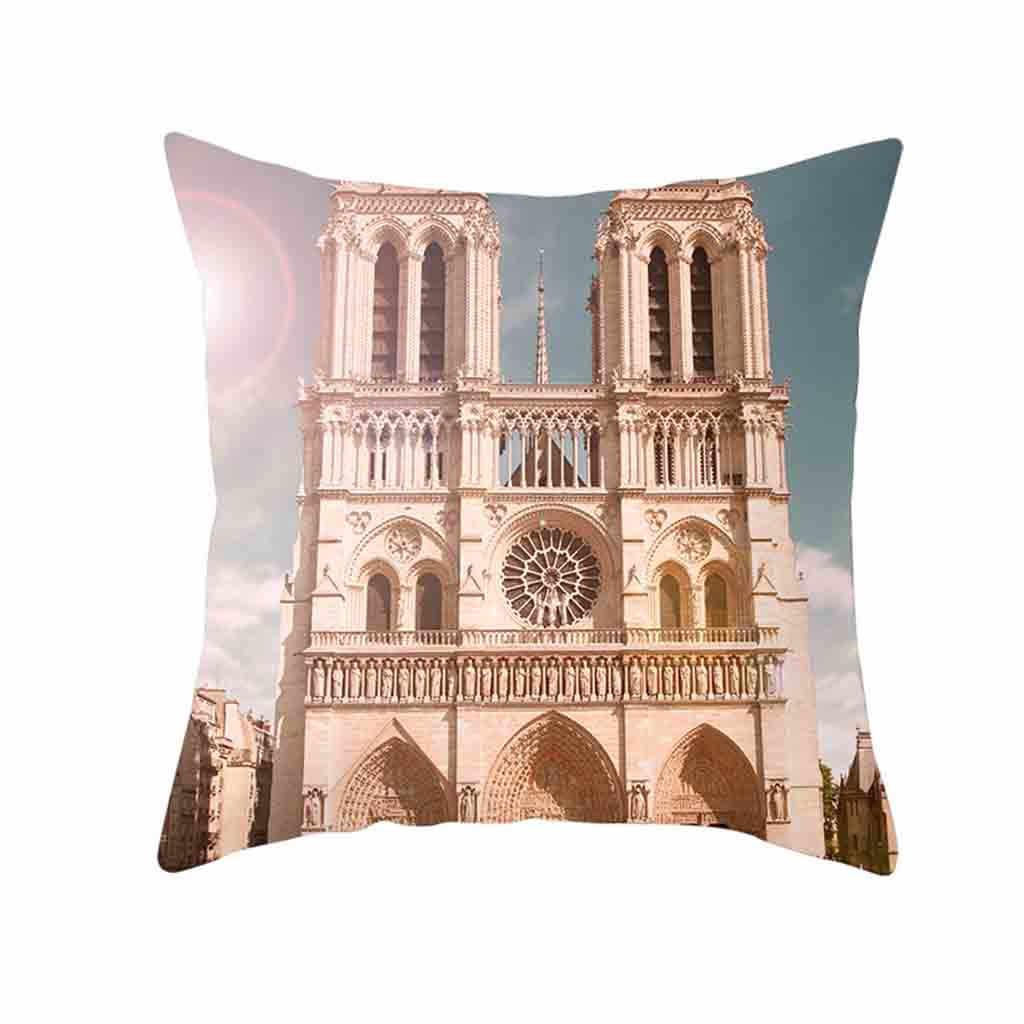 HSU 2019 Yüksek Kaliteli Yastık Retro Yastık rahat Londra Paris Şehir Sokak Manzara Yastık kişilik Ev Dekor coussin canapé