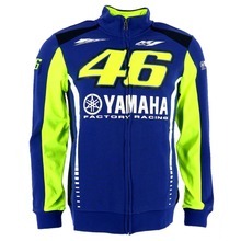 Free shipping 2017 VR46 Valentino Rossi for Yamaha Racing Blue MotoGP Mens FELPA Zip-up Sweater