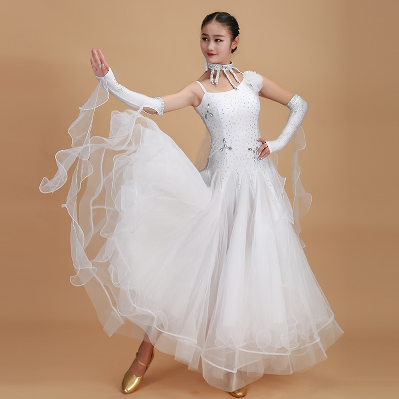 Picture of 10 Colors Red Ballroom Dance Competition Dresses Dance Ballroom Waltz Dresses Standard Dance Dress Ballroom Dress Tango Rumba