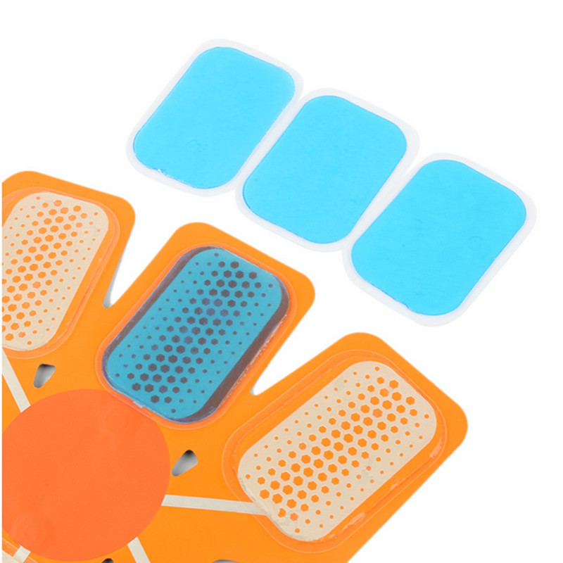Galleria fotografica 10pcs Replecament Gel Stickers Patch Pads Silicone Hydrogel Mat For Wireless Smart EMS Abdominal Muscles Fitness Accessories