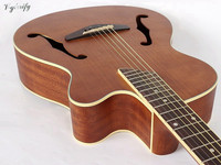 good quality maple top jazz acoustic electric guitar 40inch