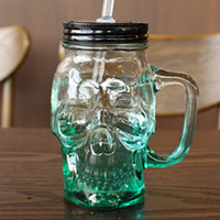 Hot Sale Cold Drink Glass With Straw Cute Delicate Water Cup South Creative Multi Color Glass