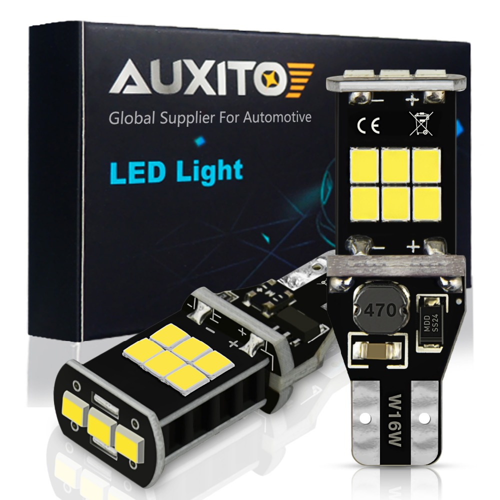 AUXITO W16W T15 LED Canbus Bulbs for Ford Focus 2 3 MK2 Fusion Escape <font><b>Mustang</b></font> Car Backup Reverse Lights 912 921 LED Reverse Lamp image