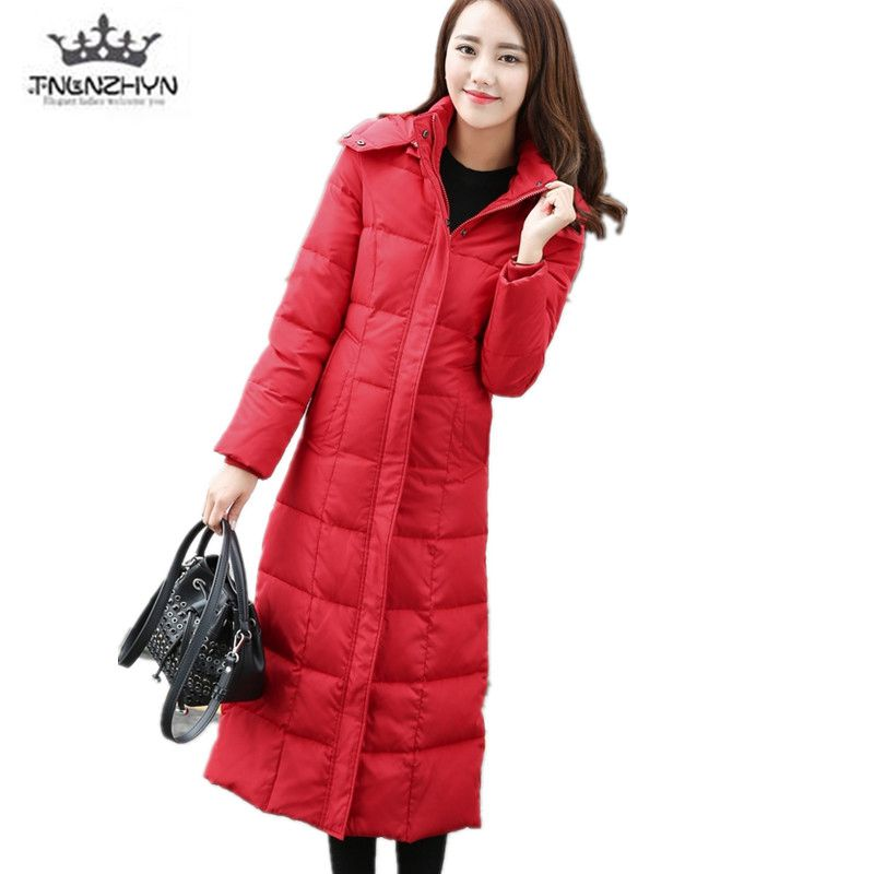 tnlnzhyn 2017 New Winter Duck Down Cotton Coat Slim Hooded Women Down Cotton Jacket Thick Warm Coats  Plus Size S-4XL Y703 winter women s cotton jackets new fashion hooded warm coats solid color thicker casual tops plus size slim outerwear okxgnz a735