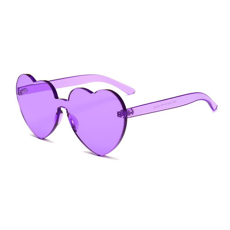 Heart Shape Cute Sunglasses para mujer Rimless Vintage Design Frame - Accesorios para la ropa - foto 4