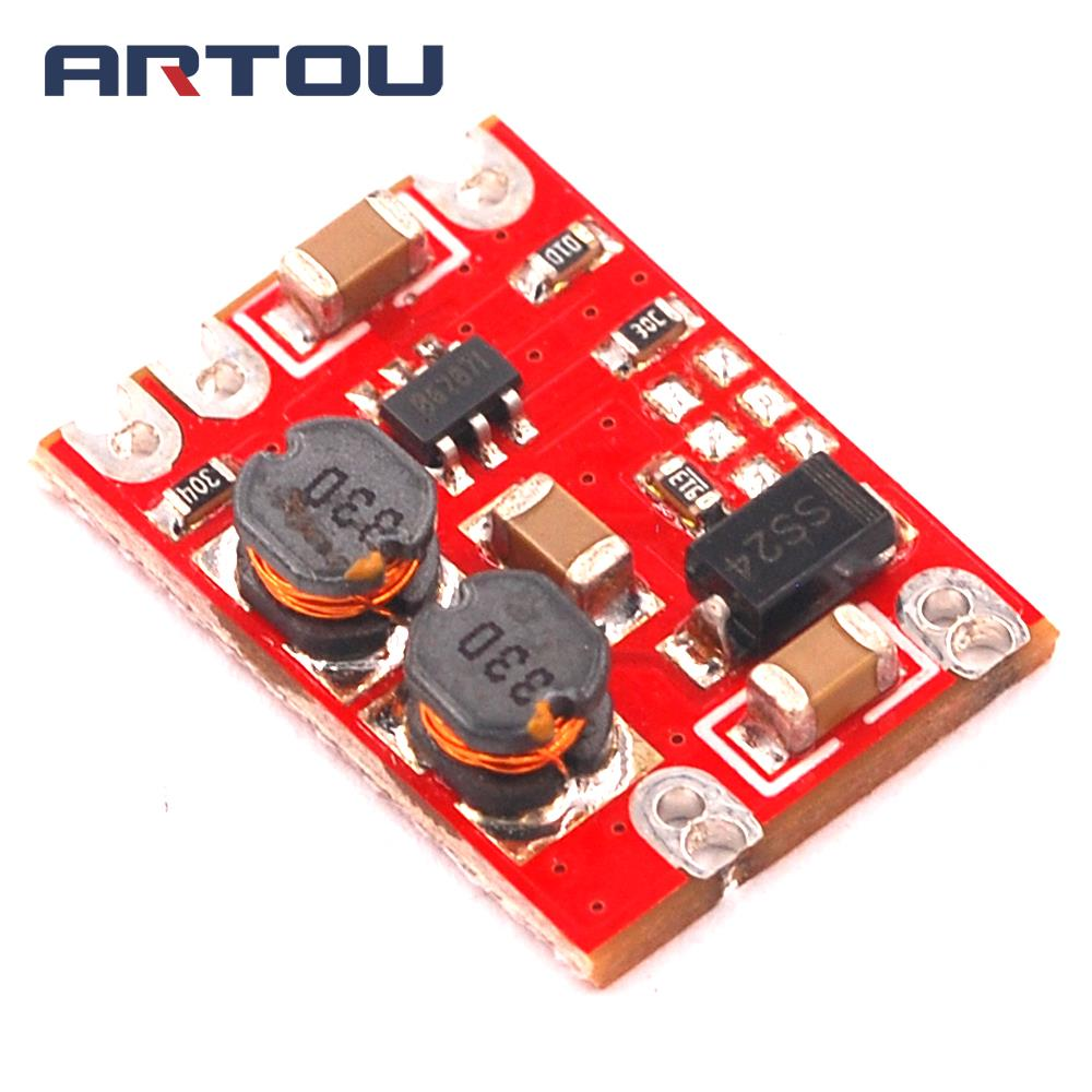 DC-DC Automatic Buck Boost Power Module Input 3-15V Output 3.3V Step Up and Down Board