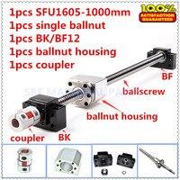 16mm RM1605 Rolled kugelumlaufspindel eingestellt: 1 stücke SFU1605 L = 1000mm + 1 stücke Kugelmutter + 1 stücke kugelmutter gehäuse + 1 satz BK/BF12 + 1 stücke 6 35*10mm Kupplung