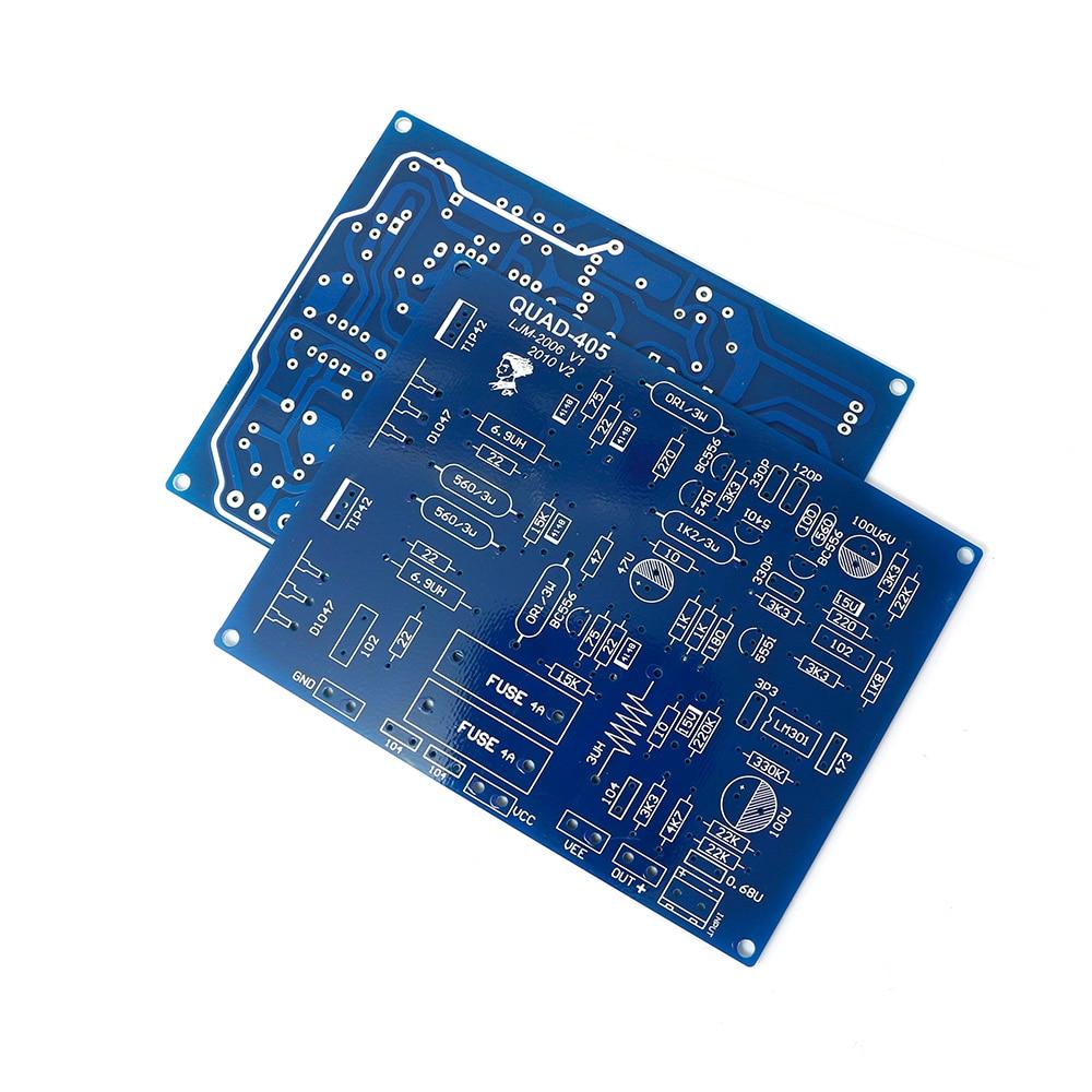 Купить с кэшбэком 2 Pcs QUAD 405 100W+100W Dual-Channel High Power Digital Audio Amplifier DIY Kit Sound Amplifier Board For Speakers