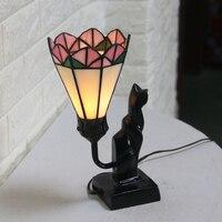 Retro Avrupa Masa lambaları Türk Akdeniz Tarzı Vitray Seramik Abajur Ev Restoran Kapalı Dekor LED Ampul Işıkları|Sıra Lambaları|   -