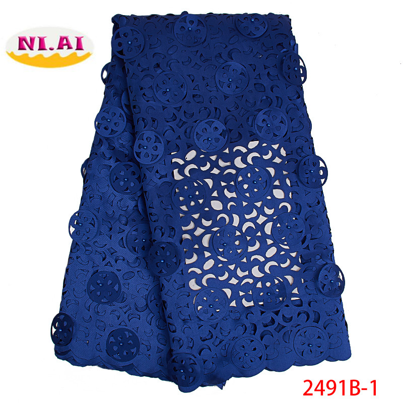 2019 High Quality 3D Applique Nigerian Lace Fabrics Tulle Stones African Lace Fabric Embroidered French Lace