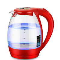 NEW Amazing Blue Led Graduated Electric Kettle Automatic Electric High Borosilicate Glass Kettle Kitchen Appliances