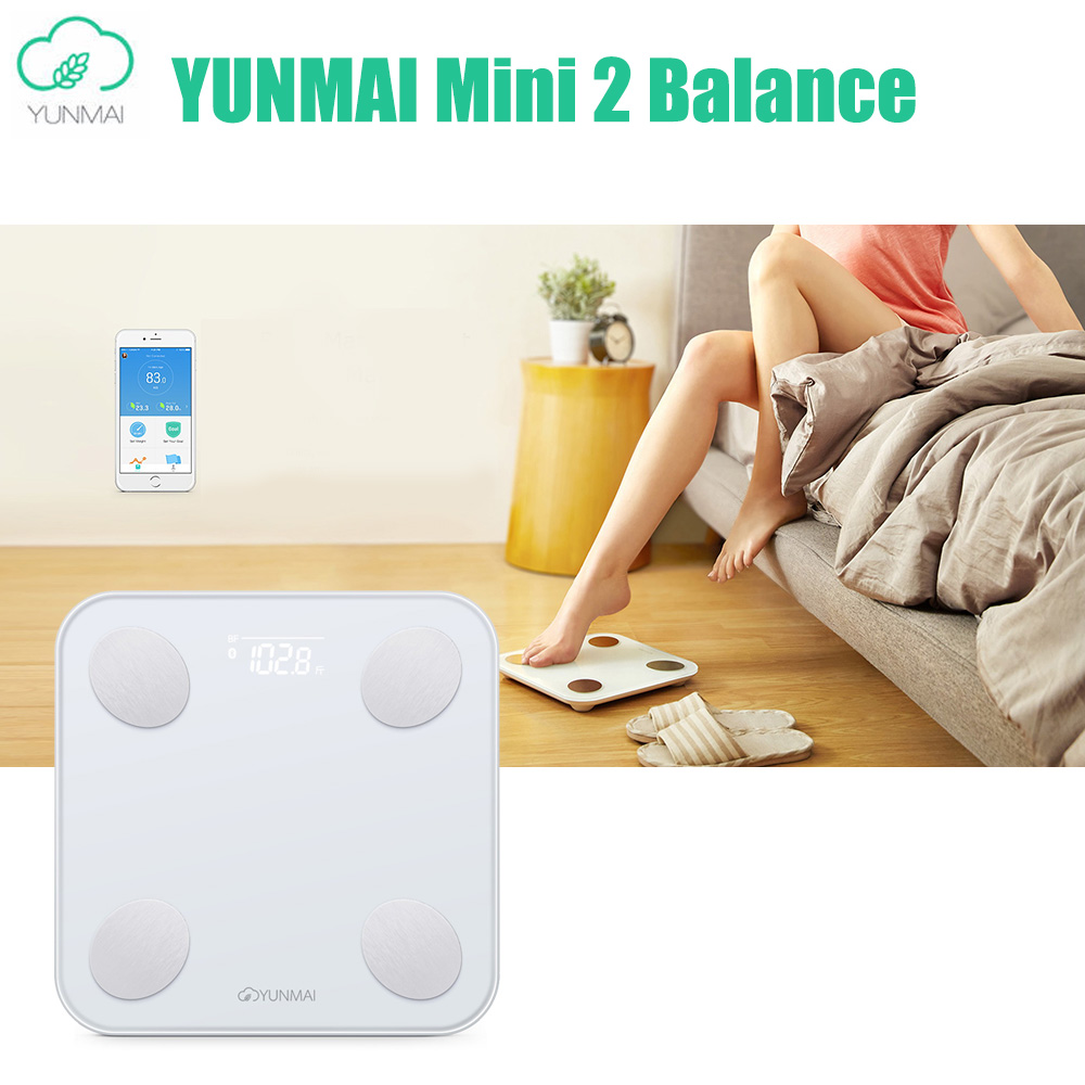 YUNMAI Mini 2 Balance Smart Body Fat Weight Scales Health Digital Weighting Scale English APP Control International Version mini smart weighting scale digital household body scale lcd display electronic weight balance health care new