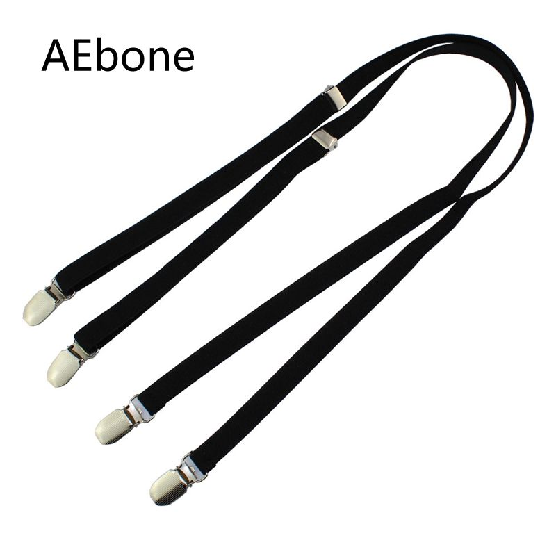 AEbone Suspensorio Adult 1.5cm*110cm Black Suspenders For Men Women Braces For Trousers Slim Bretels Dames Tirantes Negros Sus53