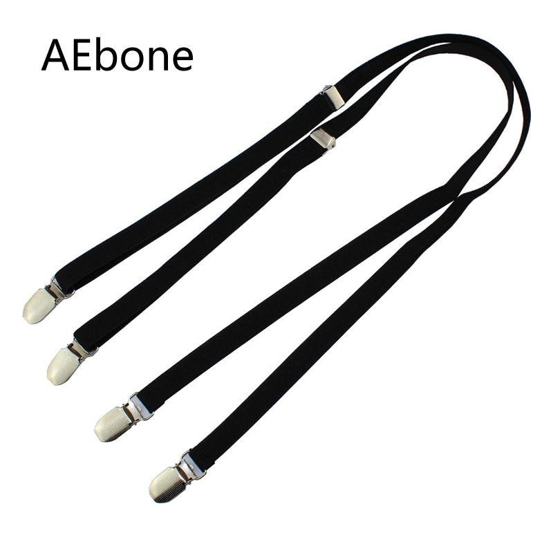 AEbone Suspensorio Adult 1.5cm*110cm Black Suspenders for Men Women Braces for Trousers Slim Bretels Dames Tirantes Negros Sus53