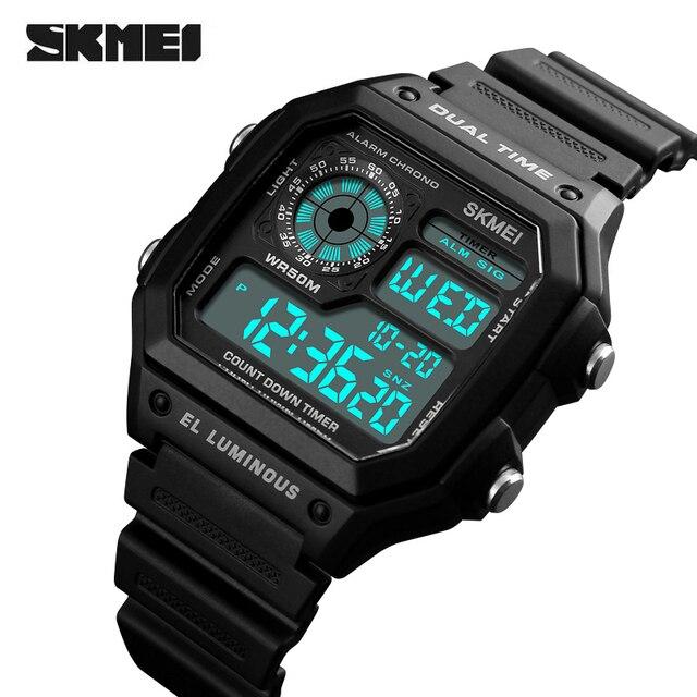 a0f27c82df7d Skmei hombres de marca de lujo Relojes deportivos moda cronógrafo cuenta  atrás reloj digital impermeable casual