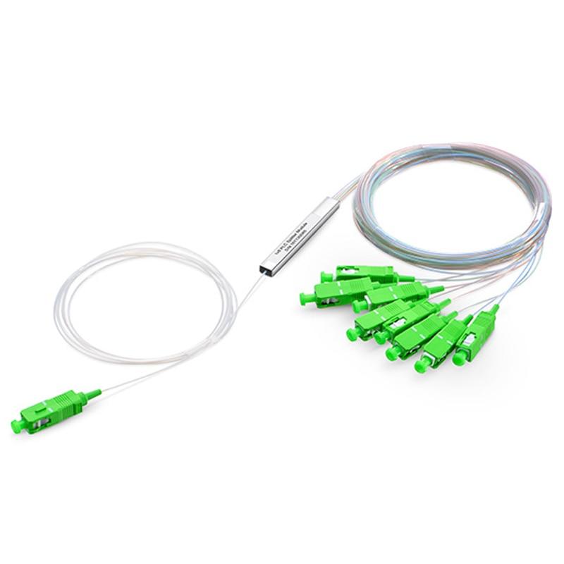 LOT of 30 1x8 PLC SM pipe type optical splitter SC APC