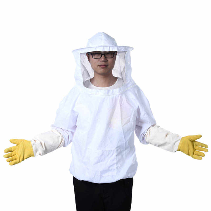 Beekeeping Protective Jacket Veil Dress Suit+Pull Hat Smock Equipment Camouflage