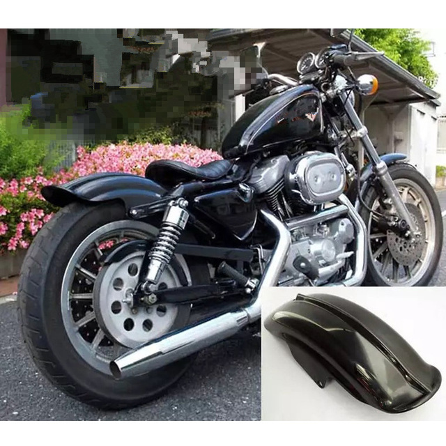 Harley Motorcycle Accessories Black Rear Fender Mudguard For Davidson  Sportster Bobber Chopper Cafe Racer 1994