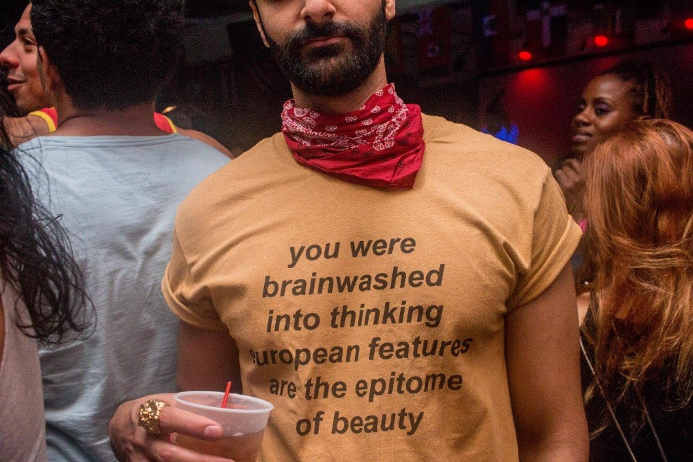 You Were Brainwashed Into Thinking European Features Are The Epitome of Beauty Funny Graphic   T  -  Shirt   Yellow Clothes Tee Girl Top