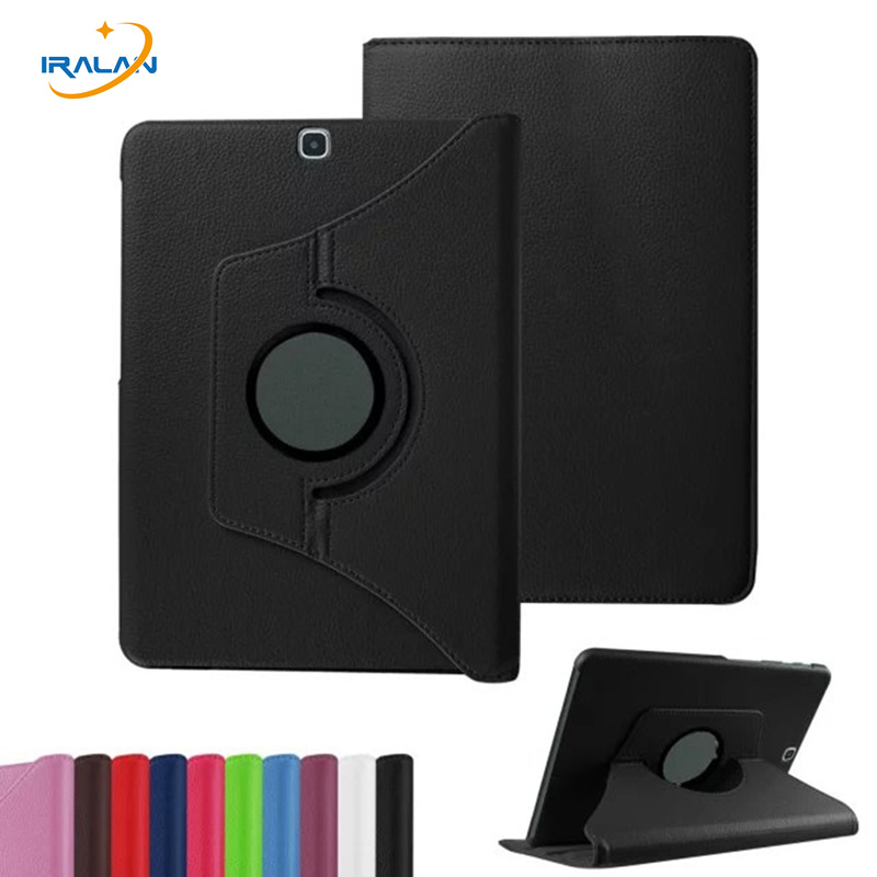 Купить 2017 Hot Case For Samsung Galaxy Tab S2 9.7 Inch T810 T815 Tablet Pu Leather Case Cover 360 Rotating With Screen Protector   Pen
